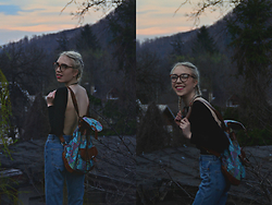 Adela C. - Monki Mom Jeans, Zara Black Body Top, Tilly's Backpack - And into the forest I go, to lose my mind and find my soul