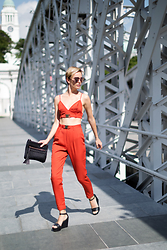 Katya Shay - Matthew Williamson Sunglasses, Missguided Crop Top, Missguided Pants, Zara Clutch - Two Piece Look