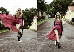 Camilla Lins - In Love With Fashion Dress, Boots - Let the wind set you free