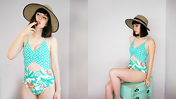 Amy Roiland - Mink Pink Swimsuit - Swim Time?