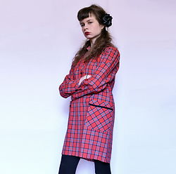 Sasha Karolik -  - Plaid Dress