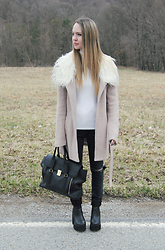 Stacey Belko - Somedays Lovin' Coat, 3.1 Phillip Lim Bag, Missguided Boots - Somedays you just don't give a.