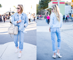 Payton Sartain - Ray Ban Shades, Jnbyjnllovet Vintage Jacket, Asos Top, She + Lo Bag, Levi's® Jeans - Denim for Days