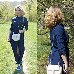 Federova Kik - Zaful Shirt Dress, Sheinside Bag - Le Bleumarine Dress