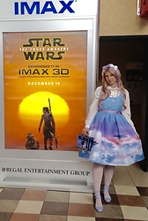 Badia Cupcake - Vintage Blouse, Her Universe Cloud City Dress, Vivienne Westwood 3 Strap Mary Janes - The Force Awakens