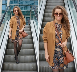 Zvezdelina Tsolova - Mohito Dress, Karen Millen Bag, Rodenstock Eyewear, Reserved Shoes, Reserved Blazer - Boho chic in the city