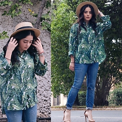 Marifer Rocha - Zara Jeans, H&M Blouse, Steve Madden Shoes, Forever 21 Hat, Cartier Watch - Green