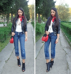 Indyra Divine - Levi's® Jeans, Zara Leather Jacket, Jessica Simpson Booties - Tom Odell - Wrong Crowd