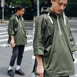 GoodHow L. - Zara Cape, Dr. Martens Shoes - Green Cape Is Coming