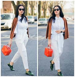 Veronica P - Marni Shoes, Gucci Bag - The New White Shirt
