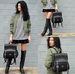Savina Dos -  - Scuba Backpack & Bomber Jacket