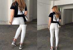 Mary Kapsi - Zara White Pants - White addiction