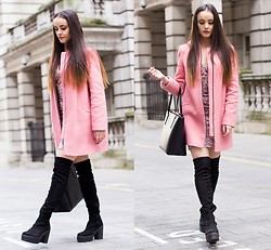 Savina Official - Zara Coat, French Connection Uk Dress, Ted Baker Bag, Schuh Boots - Barbie girl behaviour