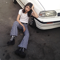 Vu Thien - Thrift Store Tee, Bird On A Wire Pants, Unif Boots - #3 DAILY