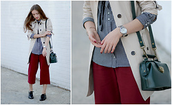 Tatiana - Dkny Watches, Zara Shirt, Zara Culotes, Seychelles Shoes, Banana Republic Trenchcoat - Good girl