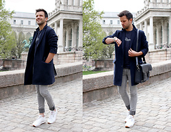 Marc Galobardes - Zatchels Satchel, Cheap Monday Skinny Grey Jeans, Reebok Sneakers White - ZATCHELS