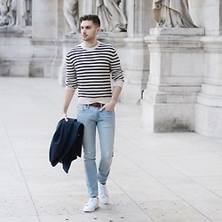 Aaron Wester - Club Monaco Sweater, Wrk Jacket, Zespa Sneakers - Drama at L'Opéra