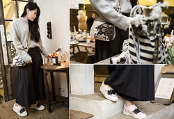 MillyQ Chung - Tod's Tod'S Double T Bag, Tod's Wave Sneakers, Cheap Monday Rival Seater - My TOD'S Attitude.