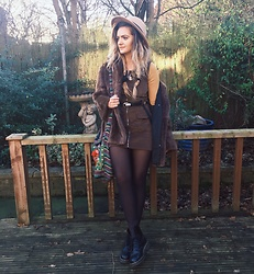 Amy Hallimond - Motel Dress, Vintage Faux Fur Coat, Urban Outfitters Top, Primark Hat, Dr. Martens Boots, New Look Belt - Stepping into the 60's