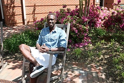 Kwame Donyinah - Lucky Brand Jean Shirt, Vans Leather Sneakers - Sunday Casual