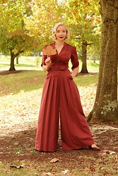 Harlow Darling - Miss Candyfloss Jumpsuit - The Colours of Autumn