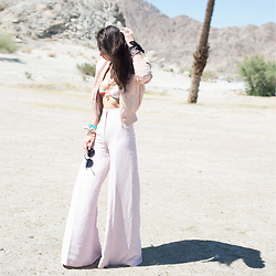 Tienlyn . - Wide Leg Trousers, Bandeau Neoprene Bikini - COACHELLA ON