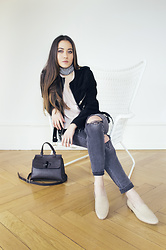 Romina Ch - H&M Jeans, The Kooples Jacket, Marc Picard Bag - Casual Inside