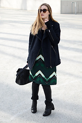 Laura Alksne - H&M Dress, Asos Boots, Lindex Faux Leather Pants, Reserved Bag, Lindex Coat, Bikbok Sunglasses - LURK