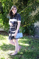 Skye V - Allsaints Tie Front Dress, Coach Dinky Bag, Zara Lace Up Flats - Knotted