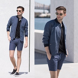 Aaron Wester - Native Youth Bomber And Short, Grand Voyage Slip Ons, Lasoste Polo - Summer Suit?