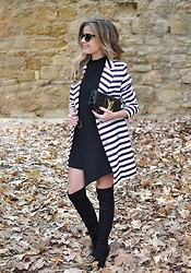 LOLA C - Sheinside Coat - So striped