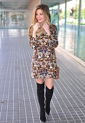 LOLA C - Boots Choies, Zara Dress, Michael Kors Bag - Twiggy dress