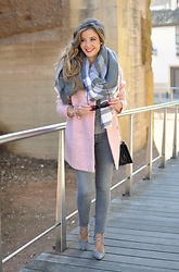 LOLA C - Choies Heels, Zara Coat, Zara Scarf, H&M Pants - We love pink