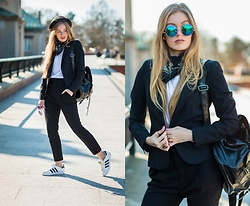 Marta Caban - Zerouv Sunnies, Zara Jacket, H&M Trousers, Adidas Sneakers - OFF BLACK