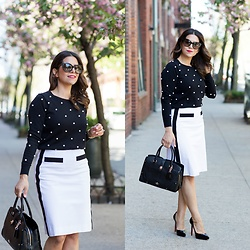 Olivia J -  - What to Wear to Work | Black + White