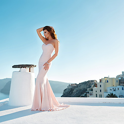 Larisa Costea - Pandora Jewelry, Chic Diva Dress - Sunset in Oia