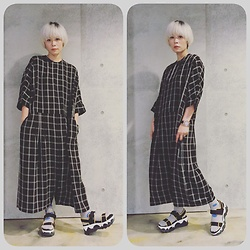 Joyce Chang - Asos Check Jumpsuit, Marni Sandal - Check jumpsuit