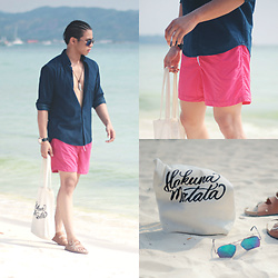 Nick Ronquillo - Uniqlo Button Down, H&M Swim Shorts - Vibrant Summer