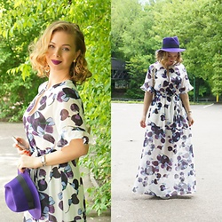 Federova Kik - Milanoo Dress - Purple Love and Maxi dress
