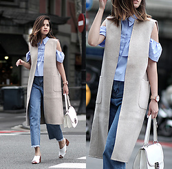 Adriana Gastélum - Shein Denim Culottes, See All The Details On - Effortlessly Chic on Monday