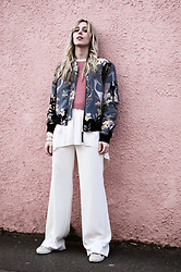 Daniella Robins - All Saints Bomber Jacket - Here It Is! All Saints Printed Bomber Jacket