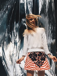 Maria Matvie - Max&Co. Skirt, American Apparel Sweater - Can't stop the feeling