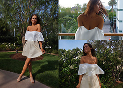 Sisi R.R. - Luxuryia Ruffled Off Shoulder Top, Luxuryia Linen Midi Skirt - Summer Breeze in L.A.