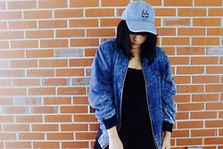 Chelsea Paulett - Urban Outfitters Denim Baseball Hat, Asos Denim Bomber Jacket - Denim Babe