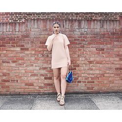 Sophie Hannah Richardson - Missguided Camel Dress, Public Desire Creepers, Maude Studio Mermaid Bag - Camel Dress
