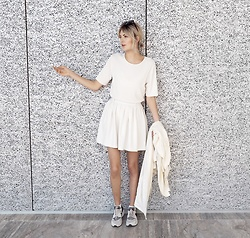 Ebba Zingmark - Weekday Top, Monki Skirt, Nike Shoes, Gentle Monster Sunnies - ALL WHITE