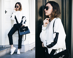 Bea G - Top, Jeans, Sneakers, Bag, Sunglasses - Monochrome Thoughts