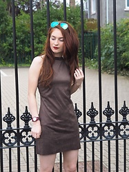 Krystel Couture - Rayban Sunglasses, Rare London Khaki Dress - Khaki Bodycon Dress
