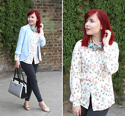 Paige Joanna Calvert - Sugarhill Boutique Mermaid Print Shirt, Asos Shoes - Just Your Everyday Mermaid
