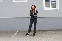 Celin May - Forever 21 Cigarette Pants, Adidas Originals, Zara Leather Jacket, Weekday Basic Top, Rings & Tings - Back to basics.